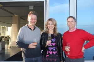 golffriends unter sich: Michael Brendel, Inna Hölzer, Peter Riedel (v.l.n.r.)