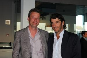Karl-Heinz Riedle und Michael Brendel beim Gala-Dinner.